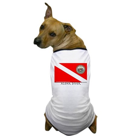 Aloha Scuba Diver Down Flag Dog T-Shirt
