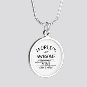 World's Most Awesome Mimi Silver Round Necklace