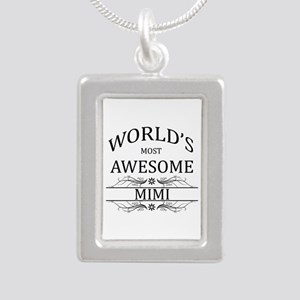 World's Most Awesome Mimi Silver Portrait Necklace