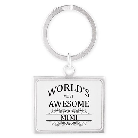 World's Most Awesome Mimi Landscape Keychain