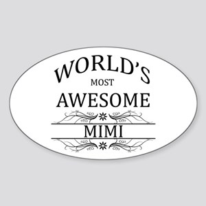 World's Most Awesome Mimi Sticker (Oval)