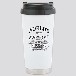 World's Most Awesome Husband Stainless Steel Trave