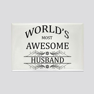 World's Most Awesome Husband Rectangle Magnet