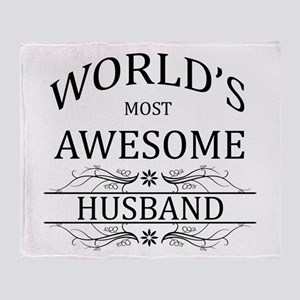 World's Most Awesome Husband Throw Blanket
