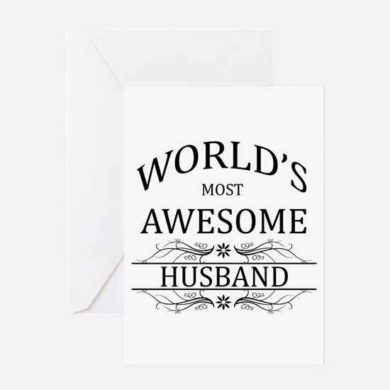 World's Most Awesome Husband Greeting Card