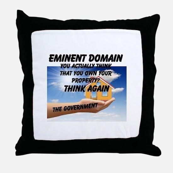 Eminent Domain Throw Pillow