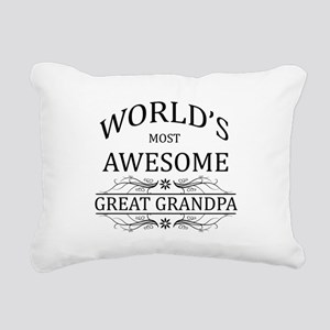 World's Most Awesome Great Grandpa Rectangular Can
