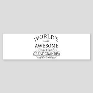 World's Most Awesome Great Grandpa Sticker (Bumper