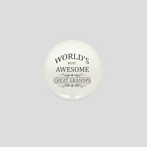 World's Most Awesome Great Grandpa Mini Button