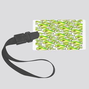 School of Mahi (Dorado, Dolphin) Fish Luggage Tag