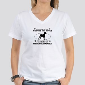 Miniature Pinscher Dog breed designs Women's V-Nec