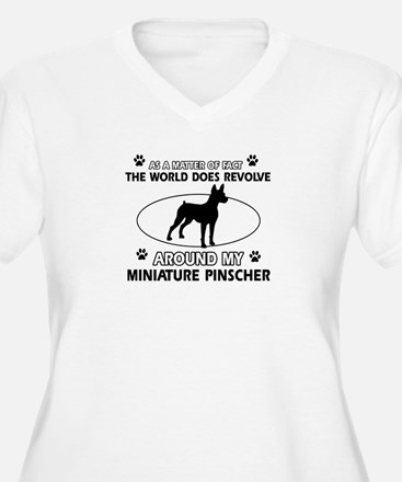Miniature Pinscher Dog breed designs T-Shirt