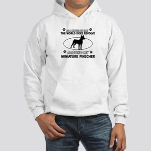 Miniature Pinscher Dog breed designs Hooded Sweats