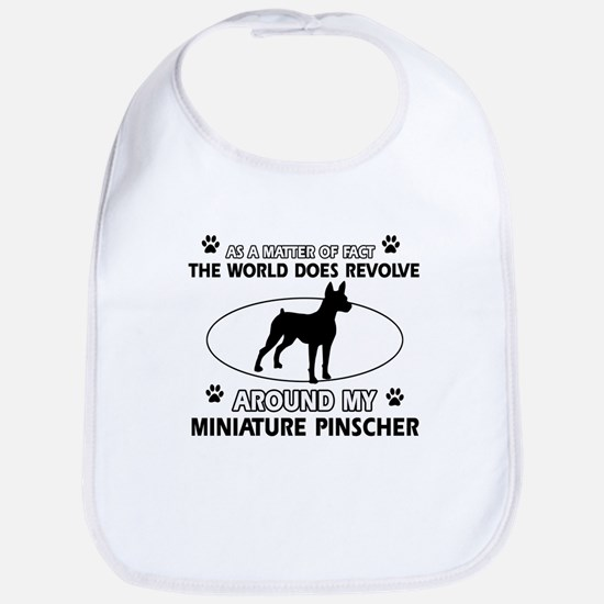 Miniature Pinscher Dog breed designs Bib