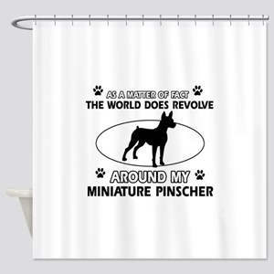 Miniature Pinscher Dog breed designs Shower Curtai