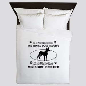 Miniature Pinscher Dog breed designs Queen Duvet
