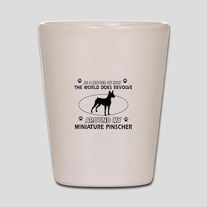 Miniature Pinscher Dog breed designs Shot Glass