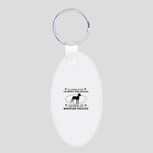 Miniature Pinscher Dog breed designs Aluminum Oval