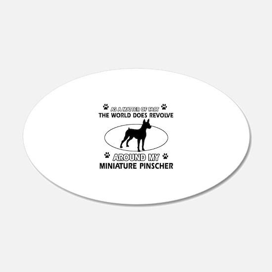 Miniature Pinscher Dog breed designs Wall Decal