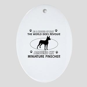 Miniature Pinscher Dog breed designs Ornament (Ova