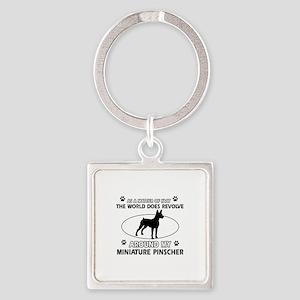 Miniature Pinscher Dog breed designs Square Keycha