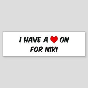 Heart on for Niki Bumper Sticker