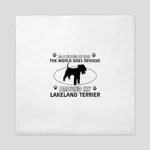 Lakeland Terrier Dog breed designs Queen Duvet