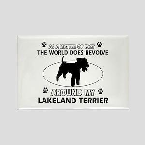 Lakeland Terrier Dog breed designs Rectangle Magne