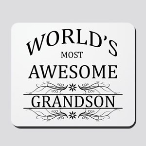 World's Most Awesome Grandson Mousepad