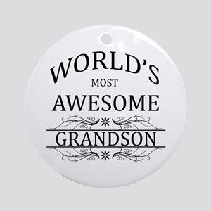 World's Most Awesome Grandson Ornament (Round)