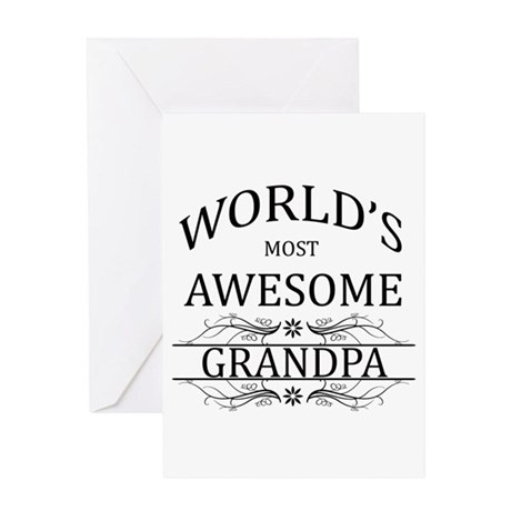 World's Most Awesome Grandpa Greeting Card by WorldsBest2