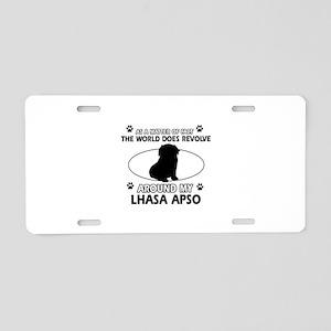Lhasa Apso Dog breed designs Aluminum License Plat