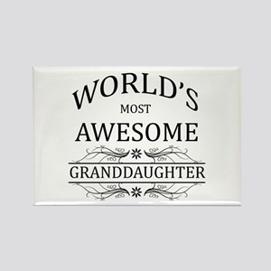 World's Most Awesome Granddaughter Rectangle Magne