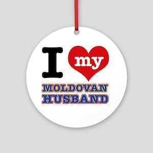 I love my Moldovan Husband Ornament (Round)
