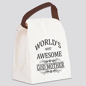 World's Most Awesome Godmother Canvas Lunch Bag