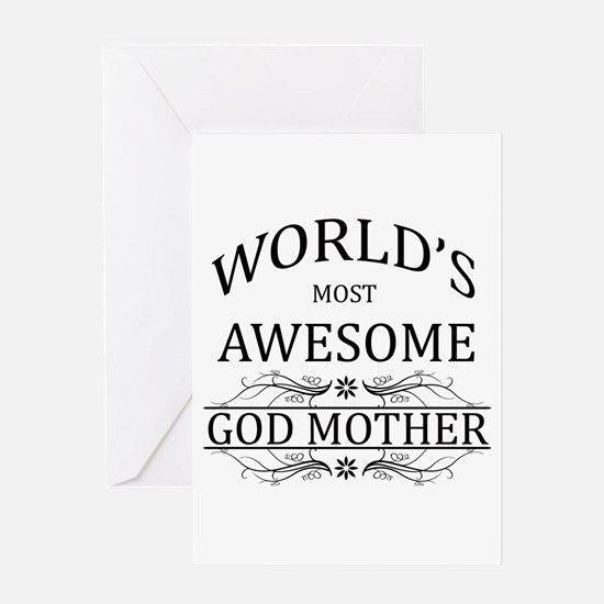 World's Most Awesome Godmother Greeting Card