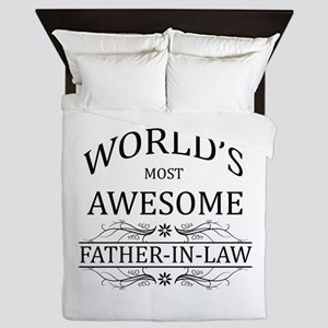 World's Most Awesome Father-in-Law Queen Duvet