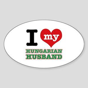I love my Hungarian Husband Sticker (Oval)