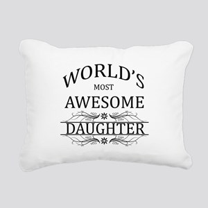 World's Most Awesome Daughter Rectangular Canvas P
