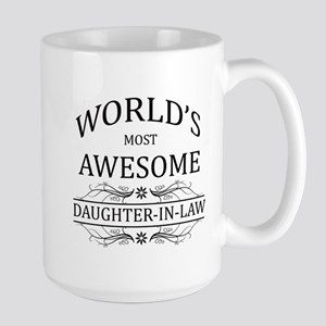 World's Most Awesome Daughter-in-Law Large Mug