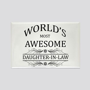 World's Most Awesome Daughter-in-Law Rectangle Mag