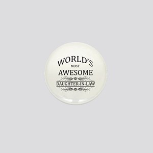World's Most Awesome Daughter-in-Law Mini Button
