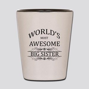 World's Most Awesome Big Sister Shot Glass