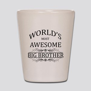 World's Most Awesome Big Brother Shot Glass