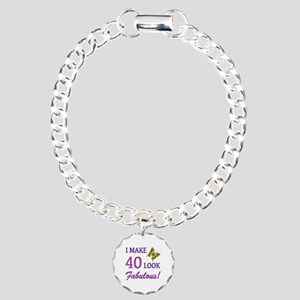 I Make 40 Look Fabulous! Charm Bracelet, One Charm