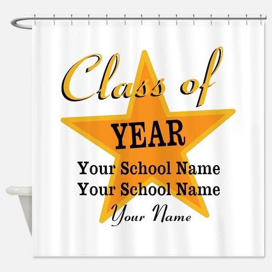 Custom Graduation Shower Curtain