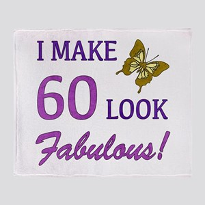 I Make 60 Look Fabulous! Throw Blanket