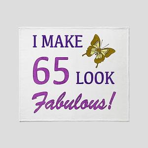 I Make 65 Look Fabulous! Throw Blanket