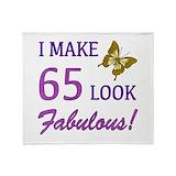 65th birthday Fleece Blankets