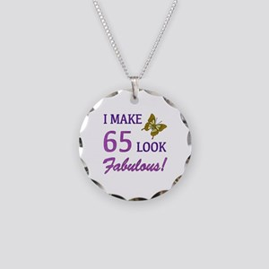 I Make 65 Look Fabulous! Necklace Circle Charm